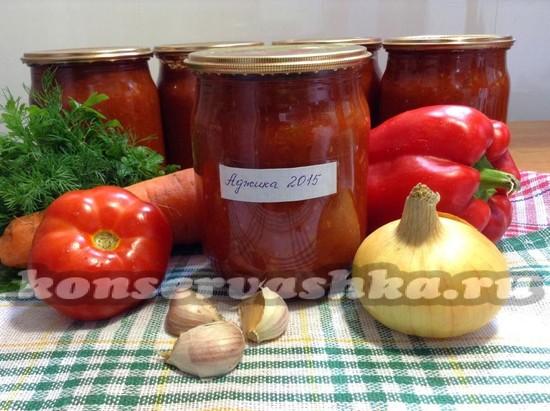 Аджика из помидор и яблок сырая